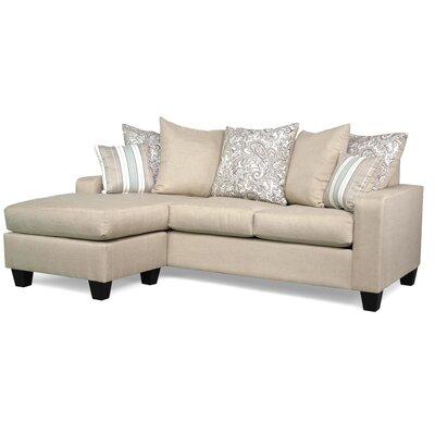 Chardae Modular Sectional Upholstery: Vibrant Linen / Lizbeth Carob / Classy Seaside