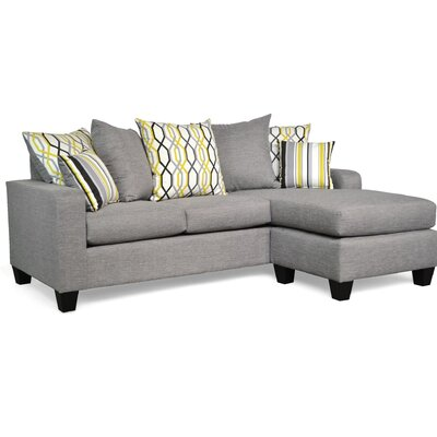 Laurie Modular Sectional Upholstery: Oscar Sterling / Adios Mercury / Mastri Mercury