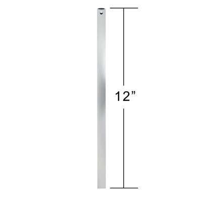 Clarington Ceiling Fan Downrod Size: 12, Finish: Graphite