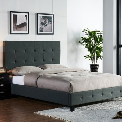 Tiara Upholstered Platform Bed Size: California King, Upholstery: Pepper
