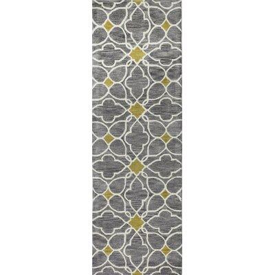 Frances Grey Rug Rug Size: Runner 26 x 8
