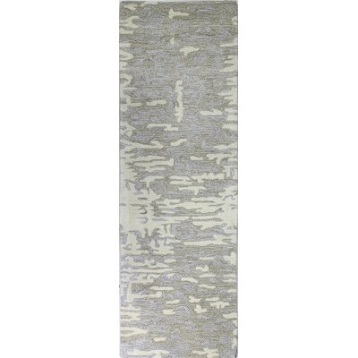 Andy Hand-Tufted Ivory Area Rug Rug Size: Runner 26 x 8