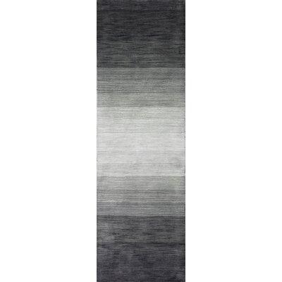 Kimberley Hand-Woven Charcoal Area Rug Rug Size: 26 x 8