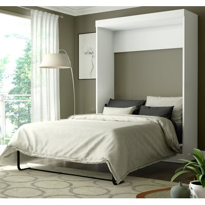 Beecroft Murphy Bed Upholstery: Full, Upholstery Color: White
