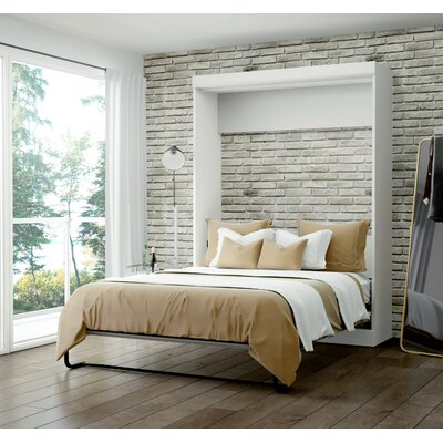Beecroft Murphy Bed Upholstery Color: White, Upholstery: Queen