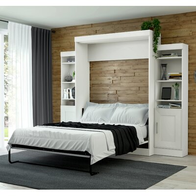 Beecroft Murphy Bed Size: Queen, Headboard Color: White