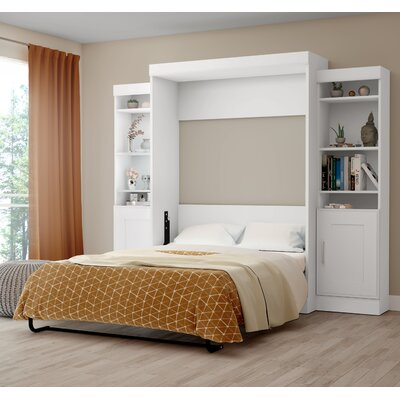 Beecroft Murphy Bed Upholstery Color: White, Upholstery: Full