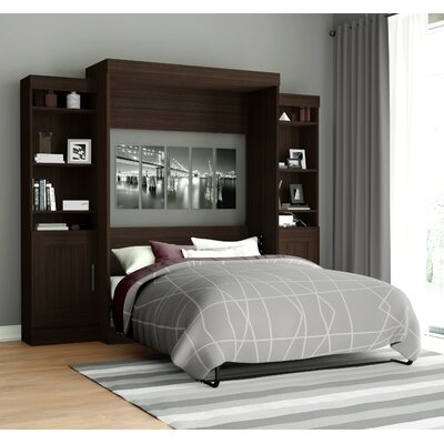 Beecroft Murphy Bed Upholstery Color: Dark Chocolate, Upholstery: Full