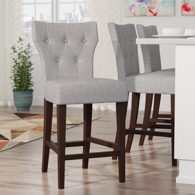 Celeste 25 Bar Stool Upholstery: Gray