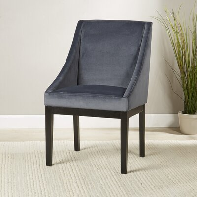 Barbra Parsons Chair Upholstery: Blue