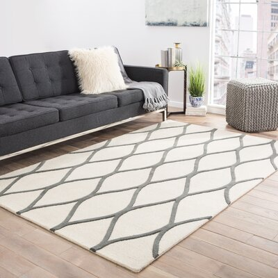 Tinkham Ivory/Gray Rug Rug Size: Rectangle 2 x 3
