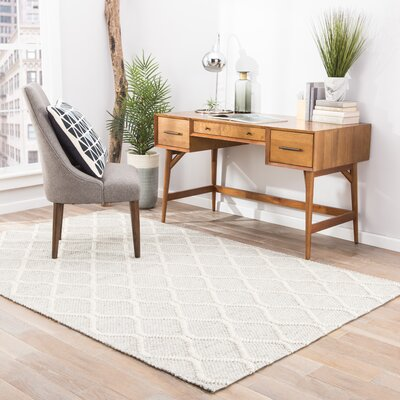 Moquin Hand-Woven Silk Natural/Ivory Area Rug Rug Size: Rectangle 8 x 11
