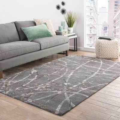 Josephine Hand-Tufted Gray/Ivory Area Rug Rug Size: Rectangle 2 x 3