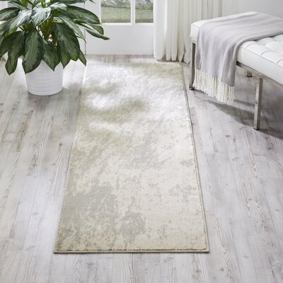 Anegada Ivory/Gray Area Rug Rug Size: Runner 2'2