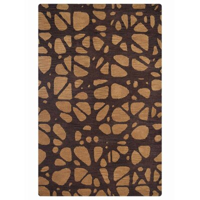 Angell Contemporary Hand-Tufted Wool Brown/Beige Area Rug Rug Size: 5 x 8