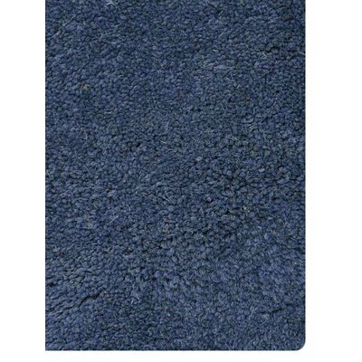 Anne Contemporary Hand-Tufted Wool Blue/Beige Area Rug Rug Size: Round 8