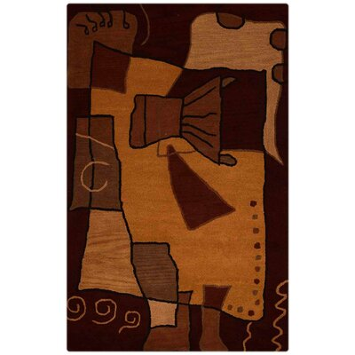 Annie Contemporary Hand-Tufted Wool Brown Area Rug Rug Size: Rectangle 8 x 11