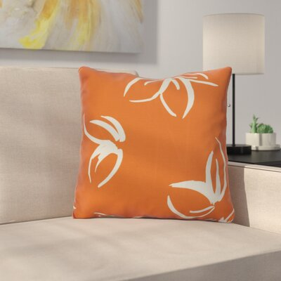 Neville Outdoor Throw Pillow Size: 20 H x 20 W x 3 D, Color: Orange