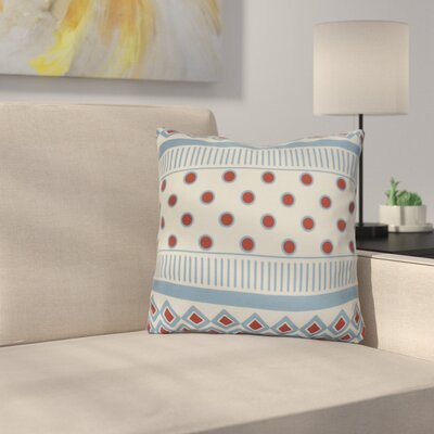 Rosalinda Throw Pillow Size: 18 H x 18 W x 3 D, Color: Light Blue