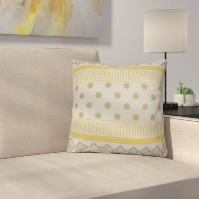 Rosalinda Throw Pillow Size: 26 H x 26 W x 3 D, Color: Yellow