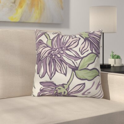 Neville Print Throw Pillow Size: 20 H x 20 W x 3 D, Color: Purple