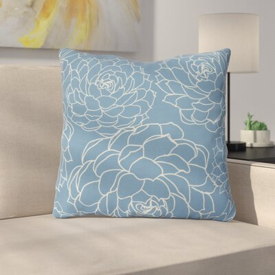 Neville Outdoor Throw Pillow Size: 20 H x 20 W x 3 D, Color: Blue