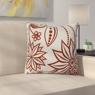 Allen Park Throw Pillow Size: 18 H x 18 W x 3 D, Color: Red