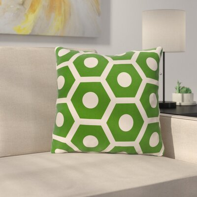 Elverton Outdoor Throw Pillow Color: Leaf, Size: 16 H x 16 W x 3 D