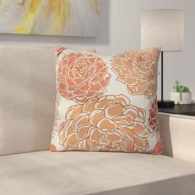 Neville Outdoor Throw Pillow Size: 18 H x 18 W x 3 D, Color: Orange