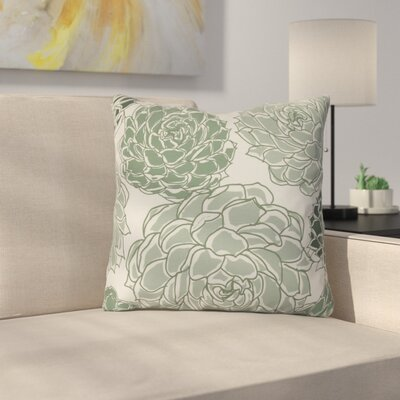 Neville Outdoor Throw Pillow Size: 18 H x 18 W x 3 D, Color: Green