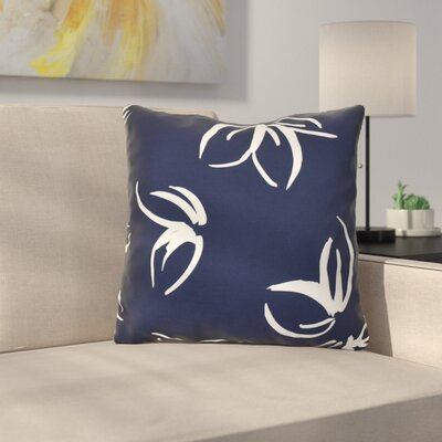 Neville Throw Pillow Size: 18 H x 18 W x 3 D, Color: Navy Blue