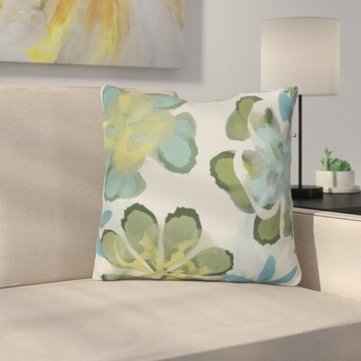 Neville Print Throw Pillow Size: 20 H x 20 W x 3 D, Color: Aqua