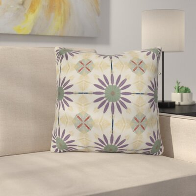 Rosalinda Throw Pillow Size: 18 H x 18 W x 3 D, Color: Green