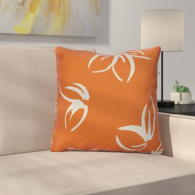 Neville Throw Pillow Size: 18 H x 18 W x 3 D, Color: Orange
