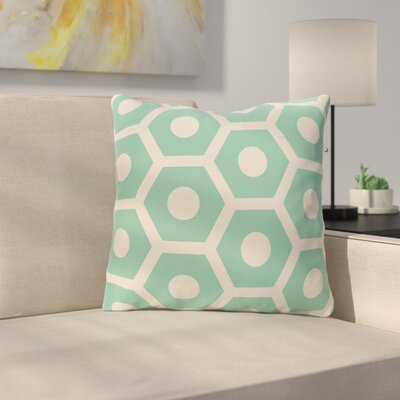 Masaitis Outdoor Throw Pillow Color: Aqua, Size: 18 H x 18 W x 3 D