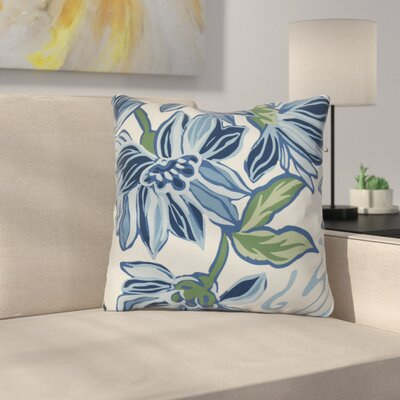 Neville Print Throw Pillow Size: 16 H x 16 W x 3 D, Color: Blue