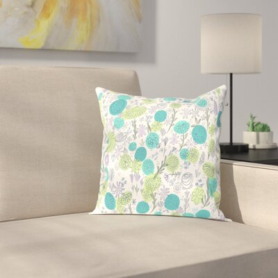 Jeff Floral Blues Outdoor Throw Pillow Size: 20 H x 20 W x 2 D