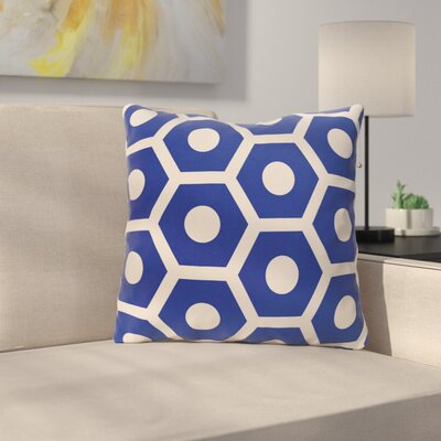 Elverton Outdoor Throw Pillow Color: Dazzling Blue, Size: 20 H x 20 W x 3 D