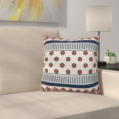 Rosalinda Throw Pillow Size: 20 H x 20 W x 3 D, Color: Orange