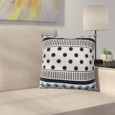 Rosalinda Throw Pillow Size: 18 H x 18 W x 3 D, Color: Navy Blue