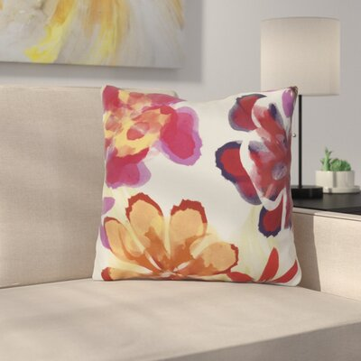 Neville Print Throw Pillow Size: 18 H x 18 W x 3 D, Color: Red