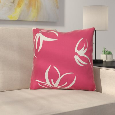 Neville Outdoor Throw Pillow Size: 18 H x 18 W x 3 D, Color: Red