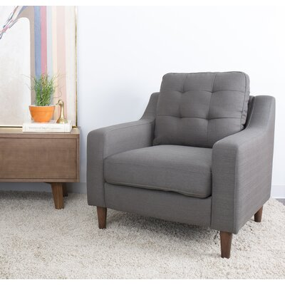 Bacote Upholstered Armchair Upholstery: Dark Gray