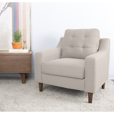 Bacote Upholstered Armchair Upholstery: Light Brown