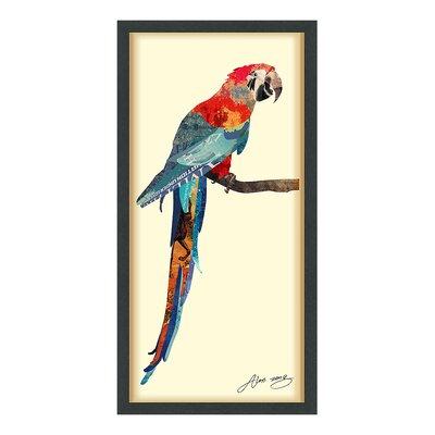'Tropical Parrot' Framed Graphic Art Print