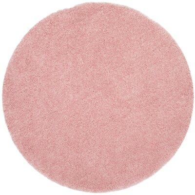 Winnett Hand-Tufted Pink Area Rug Rug Size: Round 5 x 5