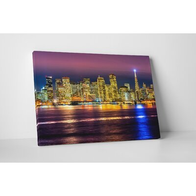 City Skylines 'Downtown San Francisco' Photographic Print on Metal Size: 11