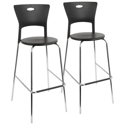 Streicher 31.5 Bar Stool Upholstery: Black