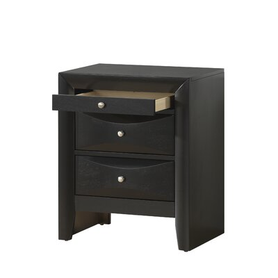 Medford 3 Drawer Nightstand Color: Cappaccino