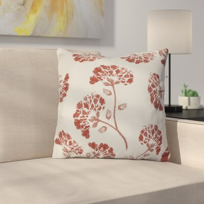 Neville Outdoor Throw Pillow Size: 16 H x 16 W x 3 D, Color: Orange